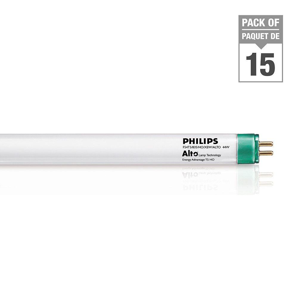Fluorescent Linéaire  T5 54 W 46 po Neutre -  ampoules à haut rendement - Cas de 15 Ampoules