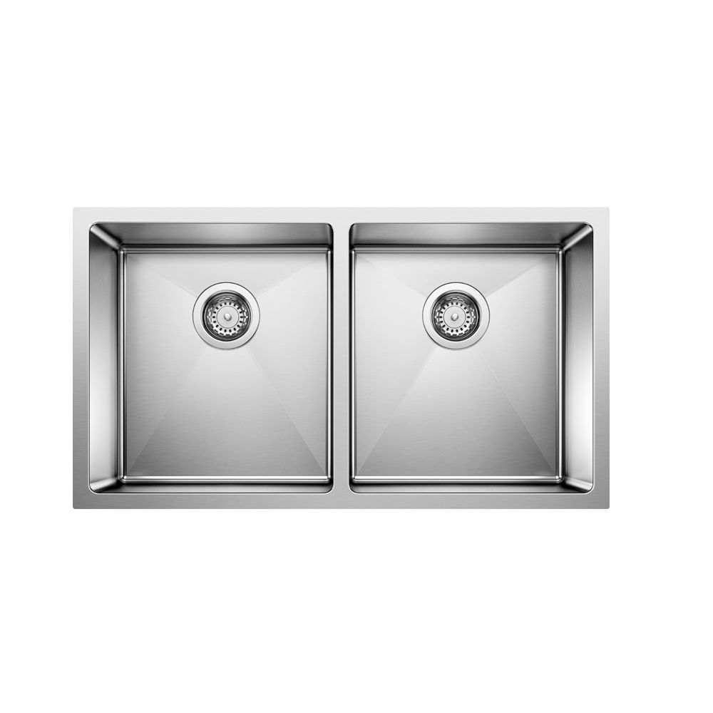 Blanco Quatrus 36-inch Double-Basin Kitchen Sink in Stainless Steel