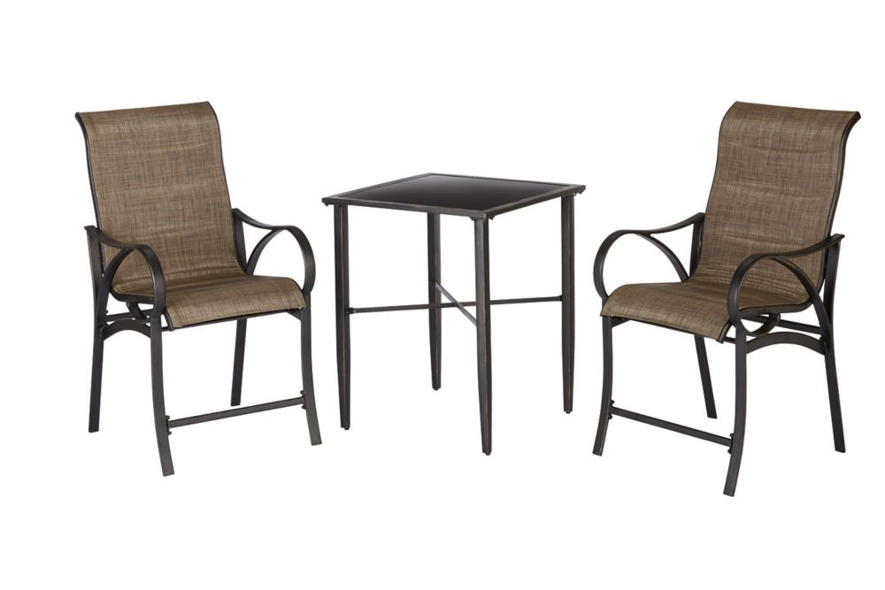 Hampton Bay Valley Stream 3-Piece High Bistro