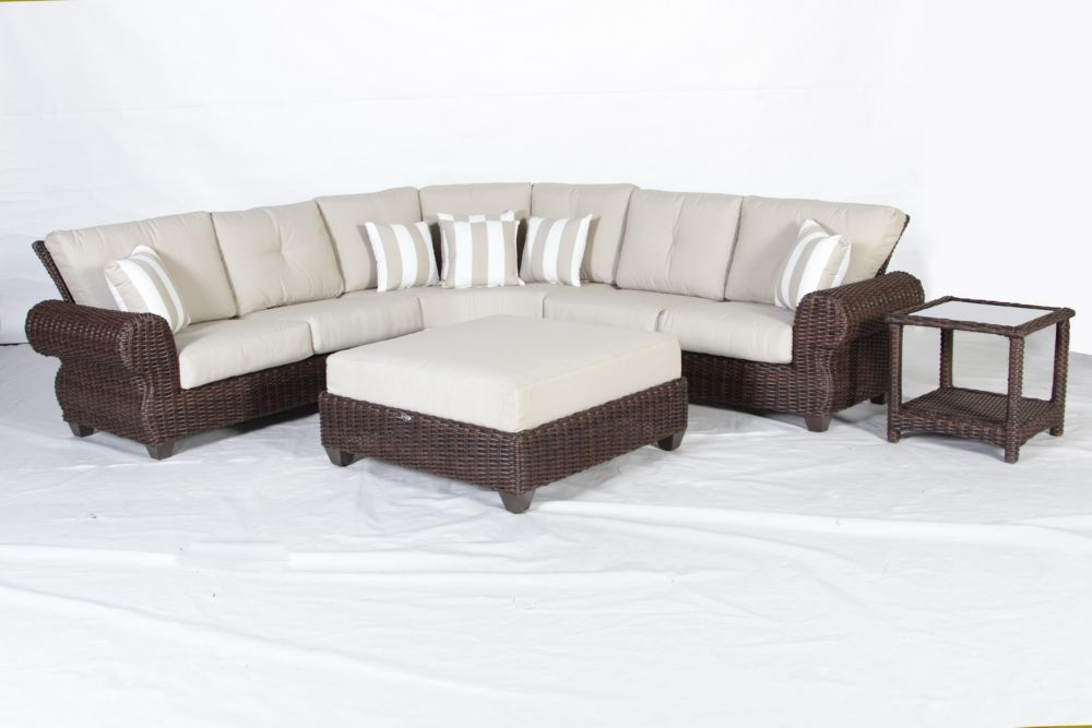 Mill Valley 5pc Fully Woven Cushioned Sectional