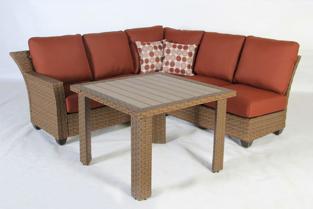 Tobago 3pc Fully Woven Sectional