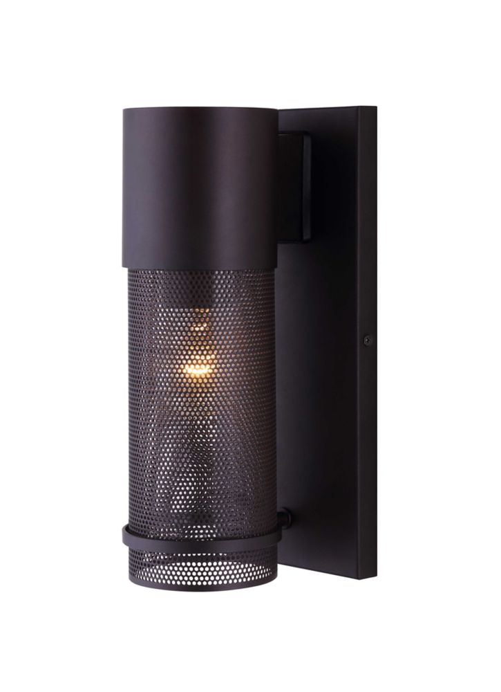 Alfie 1 Light Outdoor Orb Wall Light, Mesh Cage & Clear Glass