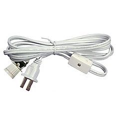 6 Feet  WH Lamp Cord W/ Candelabra Socket