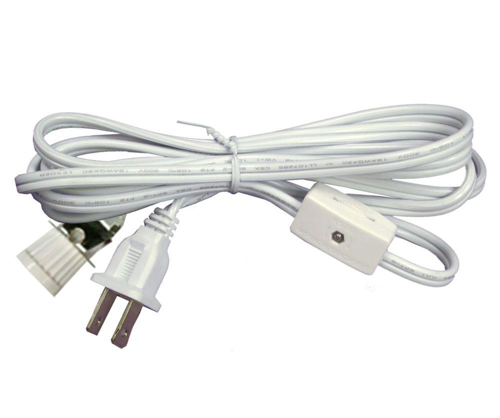 Comprend un cordon d'alimentation avec interrupteur sur fil