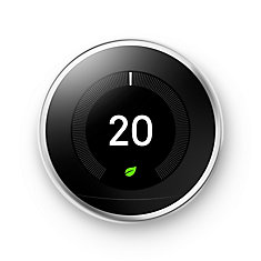 Learning Thermostat - 3rd generation, Stainless Steel - ENERGY STAR ®