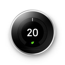 Google Learning Thermostat, 3e génération, acier inoxydable - ENERGY STAR®