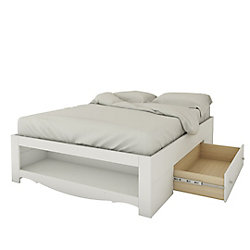 Nexera Dixie/Pixel 1-Drawer Full Size Storage Bed from