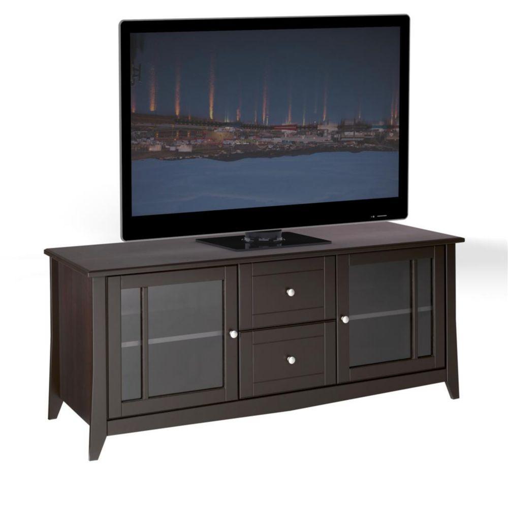 Nexera Elegance 58-inch x 24.5-inch x 21-inch TV Stand in Espresso