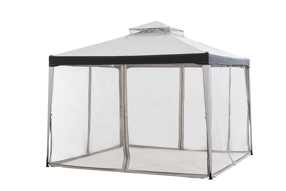 Hampton Bay Chatham 10 ft. x 10 ft. Gazebo in Grey