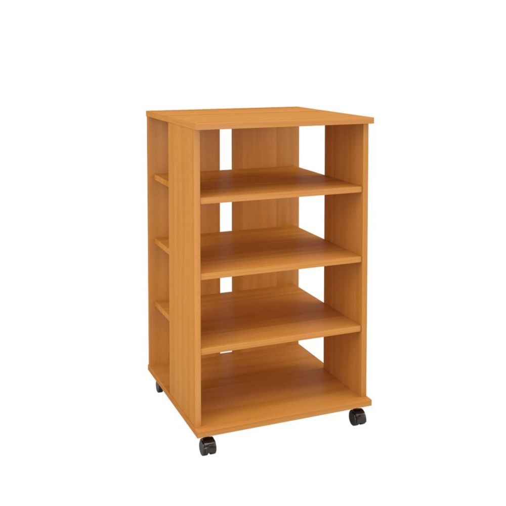 Nexera 103741 Jasper Mobile Storage Tower, American Beech
