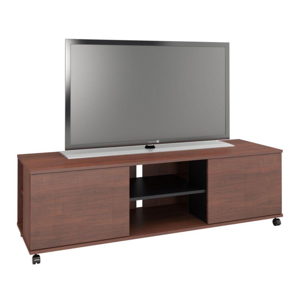 Nexera 103932 Jasper 2-Door TV Stand, 60-inch, Moka & Black