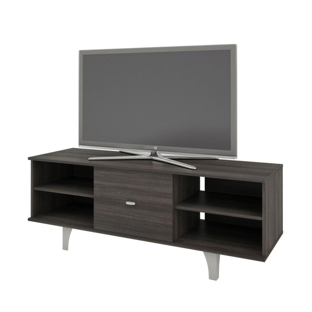 Nexera 106030 Jasper 1-Door TV Stand, 60-inch, Ebony