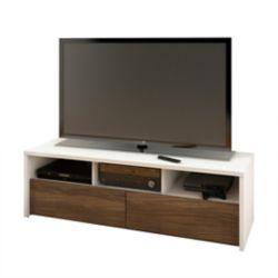 Nexera Liber-T 59.875-inch x 18.625-inch x 19.875-inch TV Stand in White