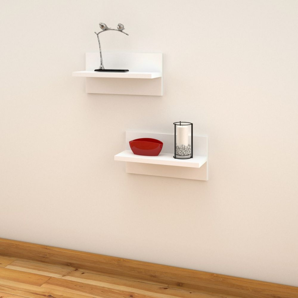 Home decorators collection floating shelf white 36 inch Home decorators collection floating shelf