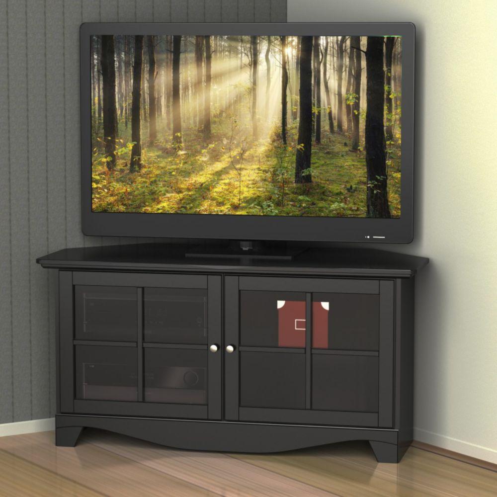 Meuble Tv Pour Coin meuble d'angle pour coin divertissement pinnacle, 49 po, noir