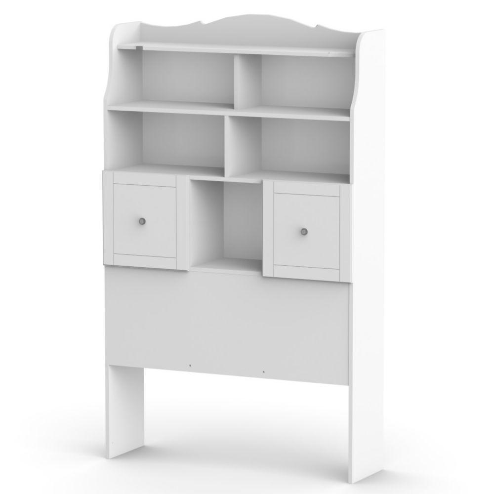 Nexera Pixel Twin Size Tall Bookcase Headboard from Nexera