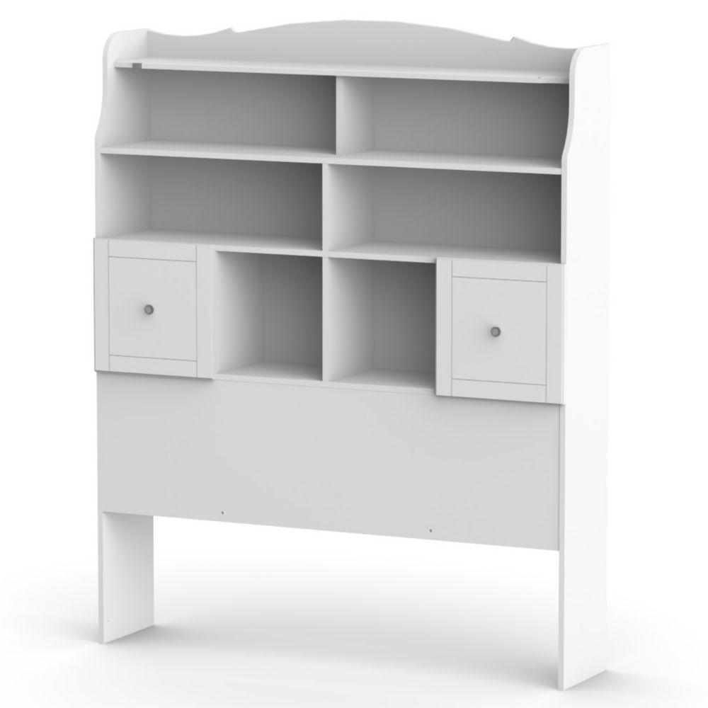 Pixel Full Size Tall Bookcase Headboard from Nexera