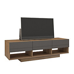 Nexera Nexera Radar 59.75-inch x 17.25-inch x 18.75-inch TV Stand in Walnut