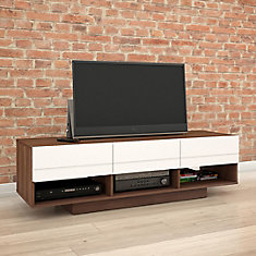 Sequence 59.75-inch x 17.25-inch x 18.75-inch TV Stand in Walnut