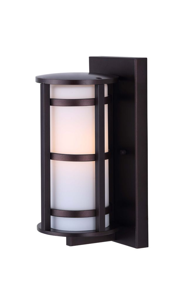 Bryant 1 Light Outdoor Orb Wall Light With Flat Opal Glass