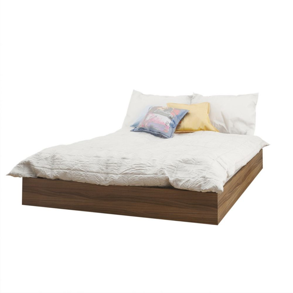 Nexera 345431 Alibi Full Size Platform Bed, Walnut
