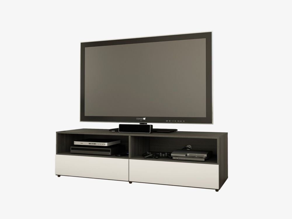 Nexera Allure 59.75-inch x 16.75-inch x 18.75-inch TV Stand in Black