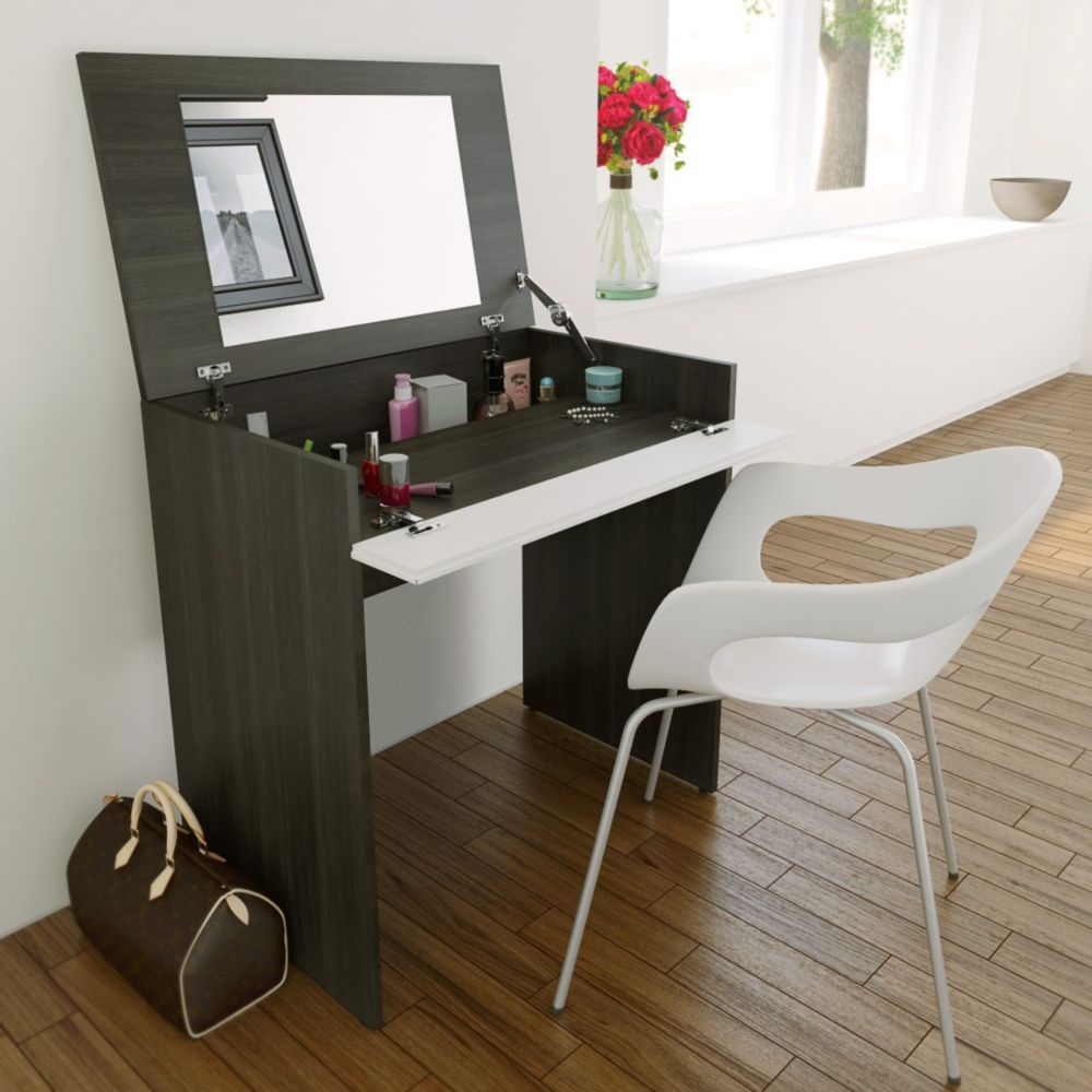 Lovely Allure Vanity With Enclosed Storage And Mirror