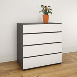 Nexera Allure 31.75-inch x 32-inch x 18.75-inch 4-Drawer Chest in White