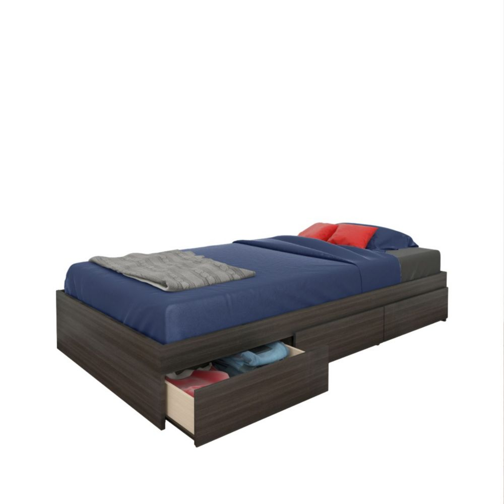 Allure Twin Size 3-Drawer Storage Bed from Nexera