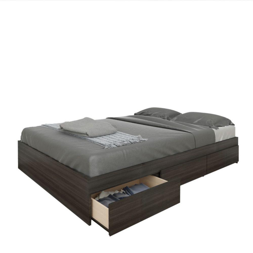 bed frames king size queen size beds more home depot. Black Bedroom Furniture Sets. Home Design Ideas