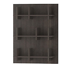 Manufactured Wood Cubed Bookcase In Black