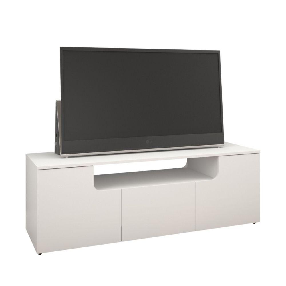 Nexera Arobas 59.75-inch x 20.25-inch x 18.63-inch TV Stand in White
