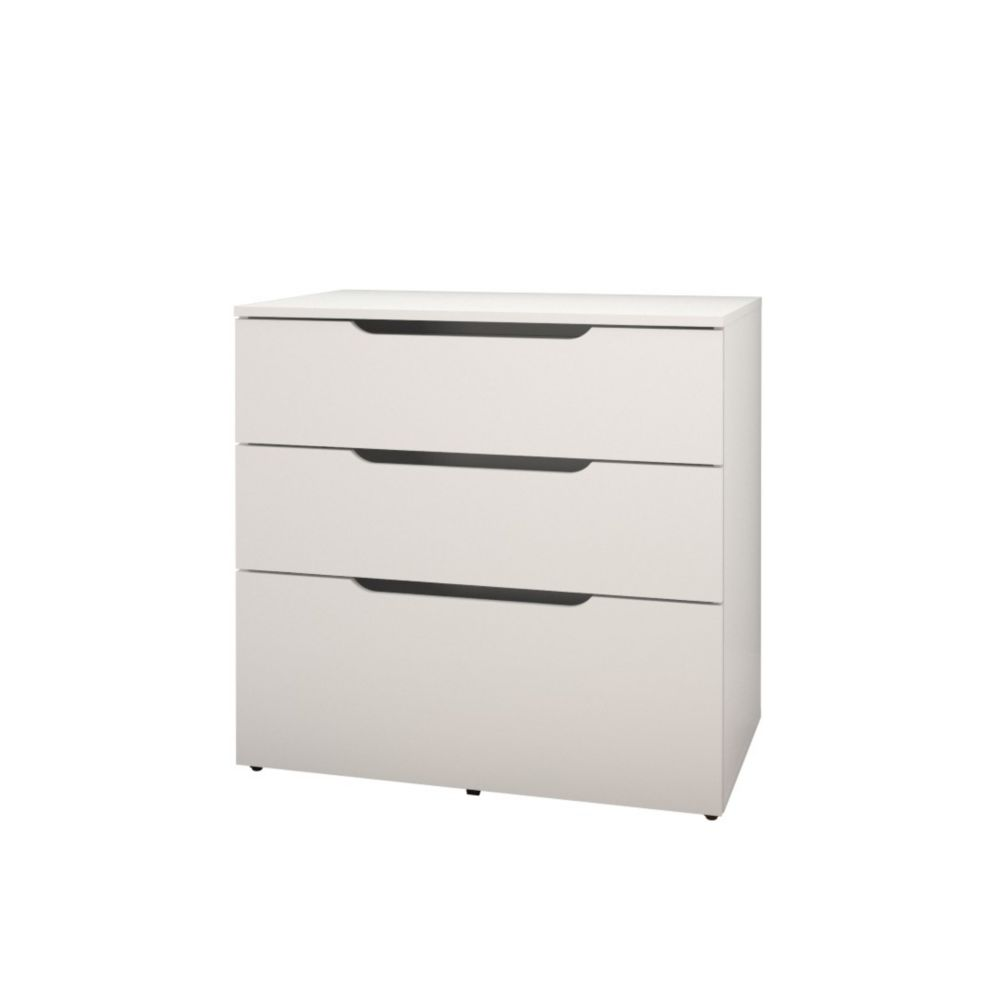 Nexera Arobas 31.75-inch x 30.75-inch x 19.25-inch 3-Drawer Manufactured Wood Filing Cabinet in White
