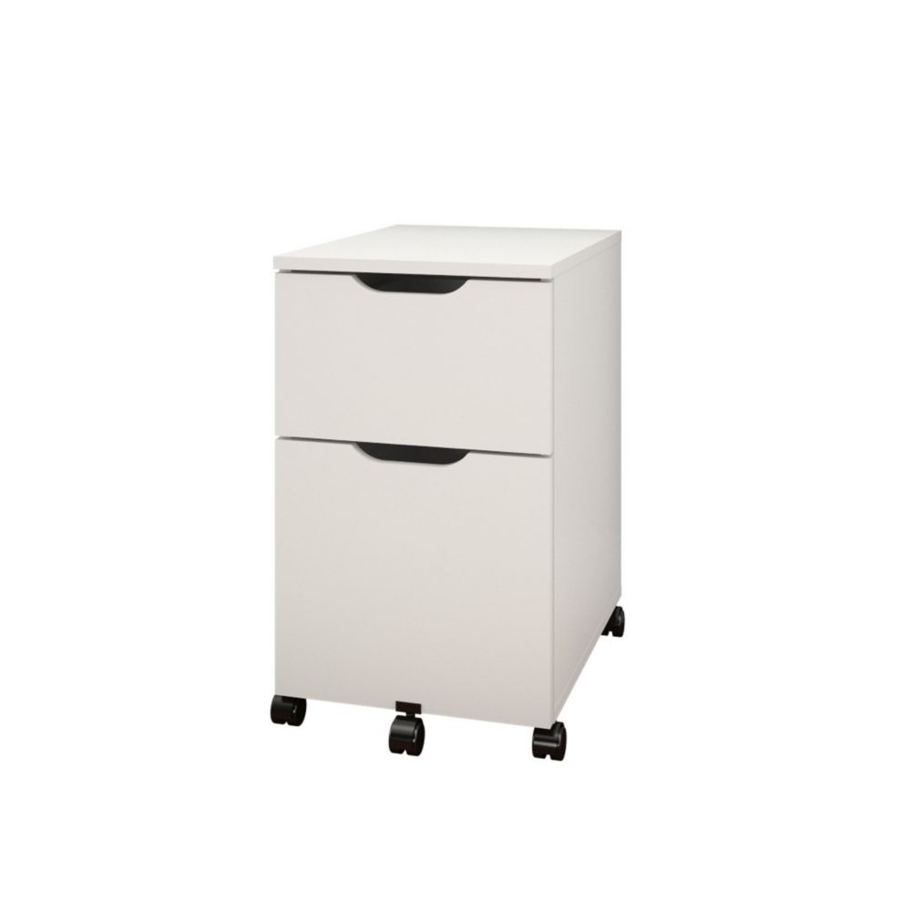 Nexera Arobas 14-inch x 23.63-inch x 19.25-inch 2-Drawer Manufactured Wood Filing Cabinet in White