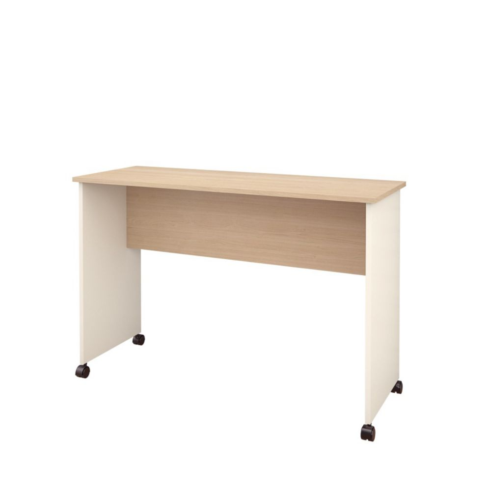 Atelier Mobile Work Surface from Nexera, Natural Maple & Ivory