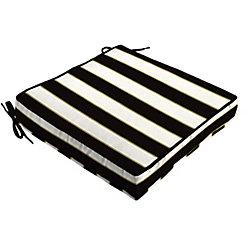 Hampton Bay Outdoor Seat Cushion Black & White Stripe
