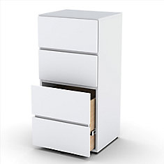 Blvd 18-inch x 36.75-inch x 15.5-inch 3-Drawer Metal Filing Cabinet in White
