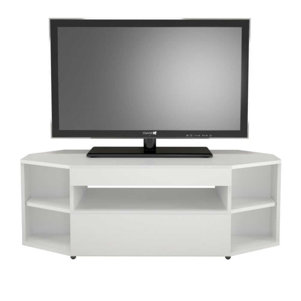 Nexera Blvd 47 75 Inch X 16 75 Inch X 18 5 Inch Tv Stand In White