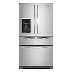 36-inch W 26 cu. ft. Multi-Door French Door Refrigerator in Monochromatic Stainless Steel