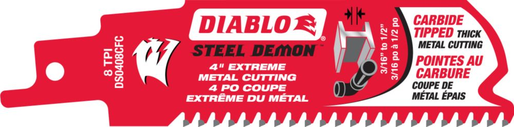 Lame alternative pour le metal 4 po.