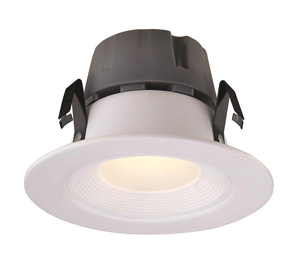 Commercial Electric Recessed LED White Retrofit Baffle Trim