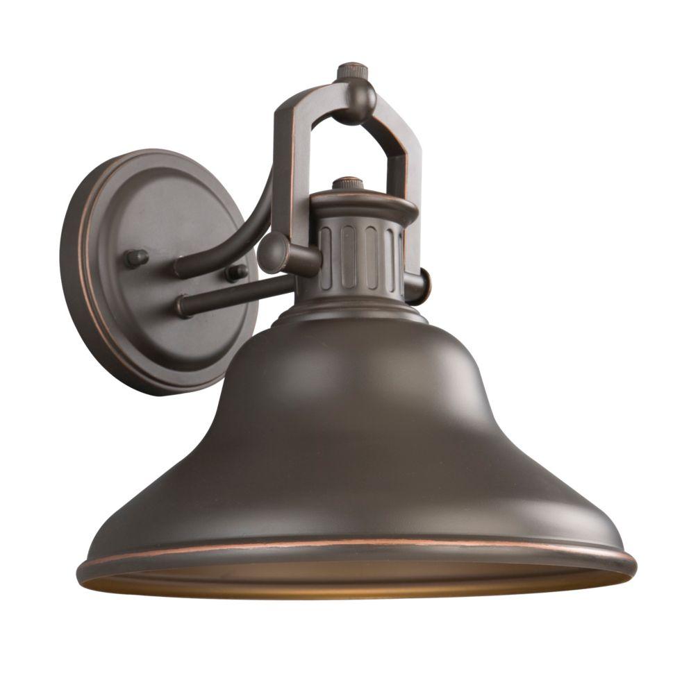 Home Decorators Collection Applique d'extérieur Lake Worth bronze huilé, à une ampoule DEL