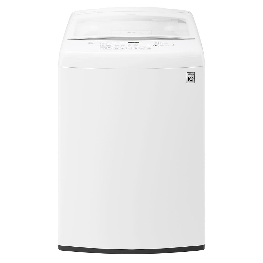 5.2 cu. ft. Large Capacity Top Load Washer with Front Control Design in White