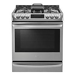 Cuisinière à gaz encastrée avec ProBakeConvection et EasyClean, 6,2pi³, acier inoxydable