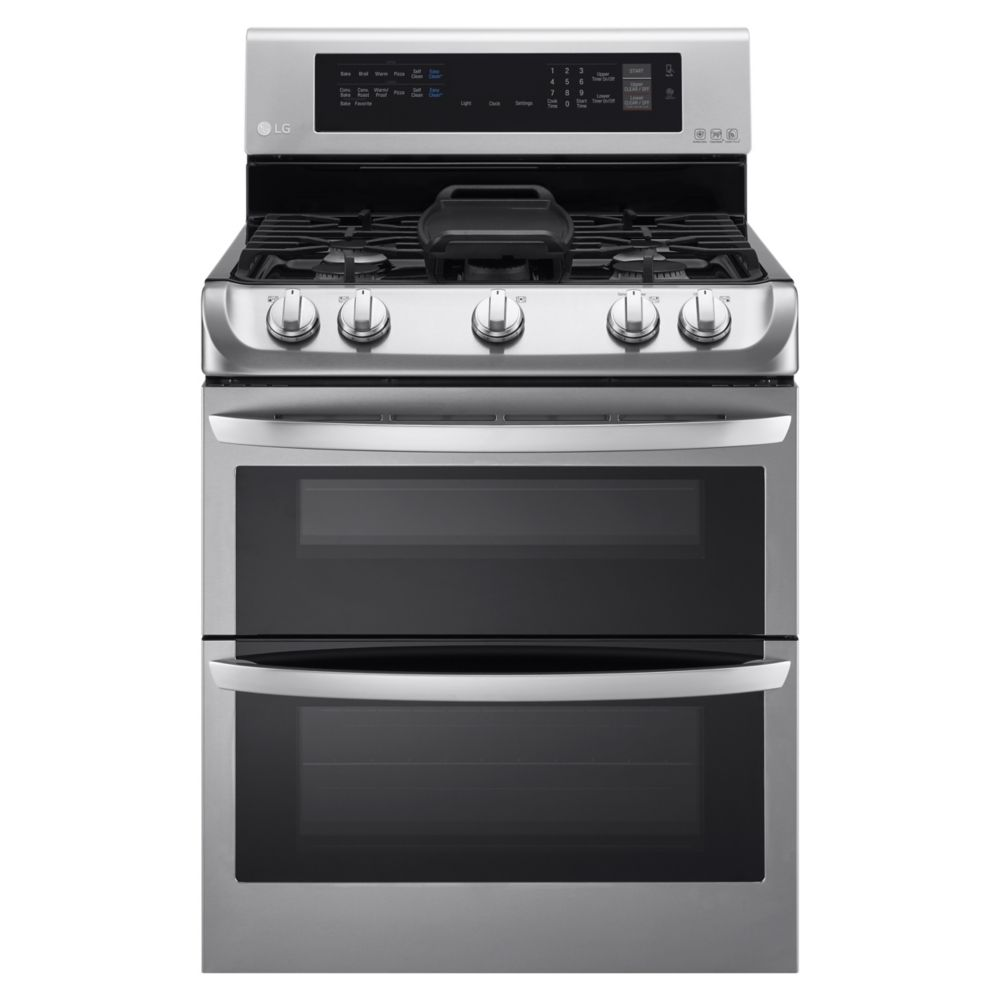 6.9 cu. ft. Large Capacity Gas Double Oven Range in Stainless Steel