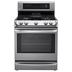 6.3 cu. ft. Gas Range with Probake in Stainless Steel