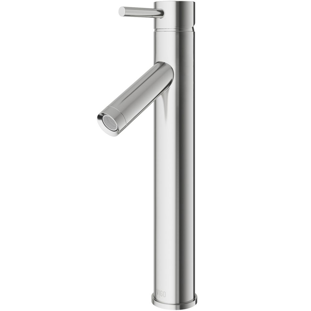 Dior Bathroom Vessel Faucet in Brushed Nickel Finish