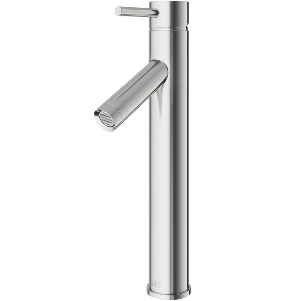 Dior Bathroom Vessel Faucet in Brushed Nickel Finish