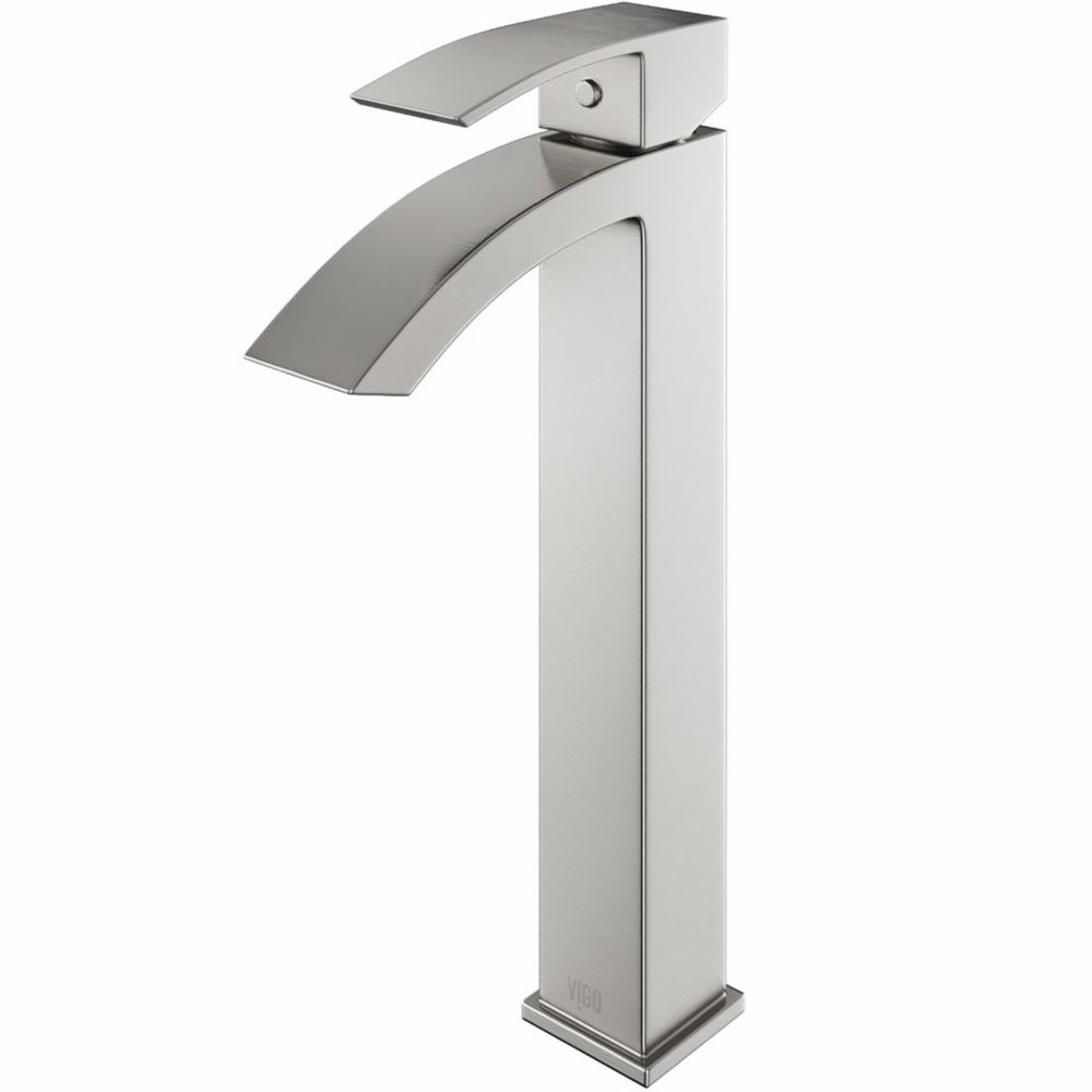 Vigo Duris Bathroom Vessel Faucet in Brushed Nickel Finish