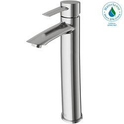 VIGO Shadow Bathroom Vessel Faucet in Brushed Nickel Finish